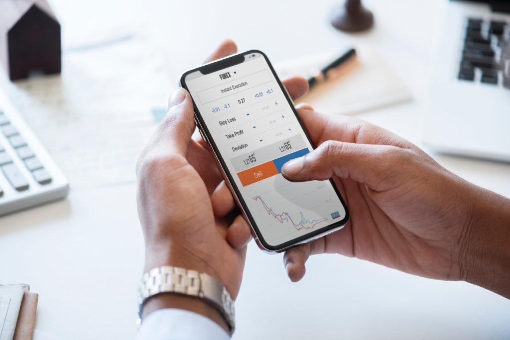 Trading app image